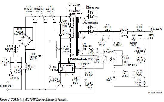 Laptop Power Supply Adaptor Circuit