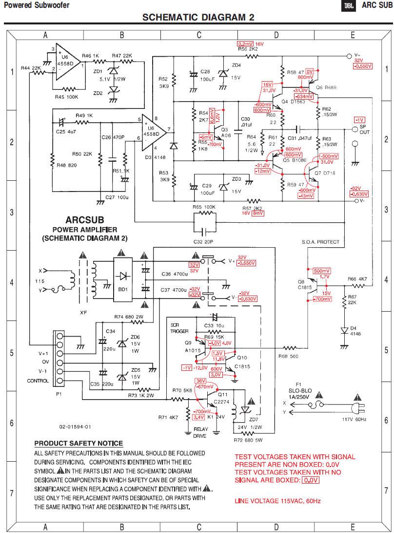 Схема сабвуфера с автовыключением