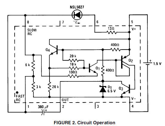 1 5v battery cell led flasher circuit diagram