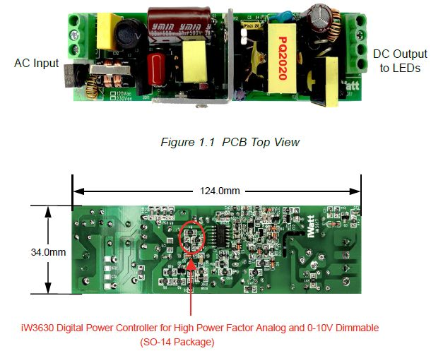 AC 230V LED Driver Dimmer circuit diagram 0-10V or Wireless pcb board