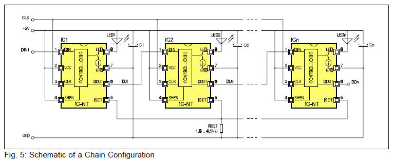 LED light chain circuit diagram