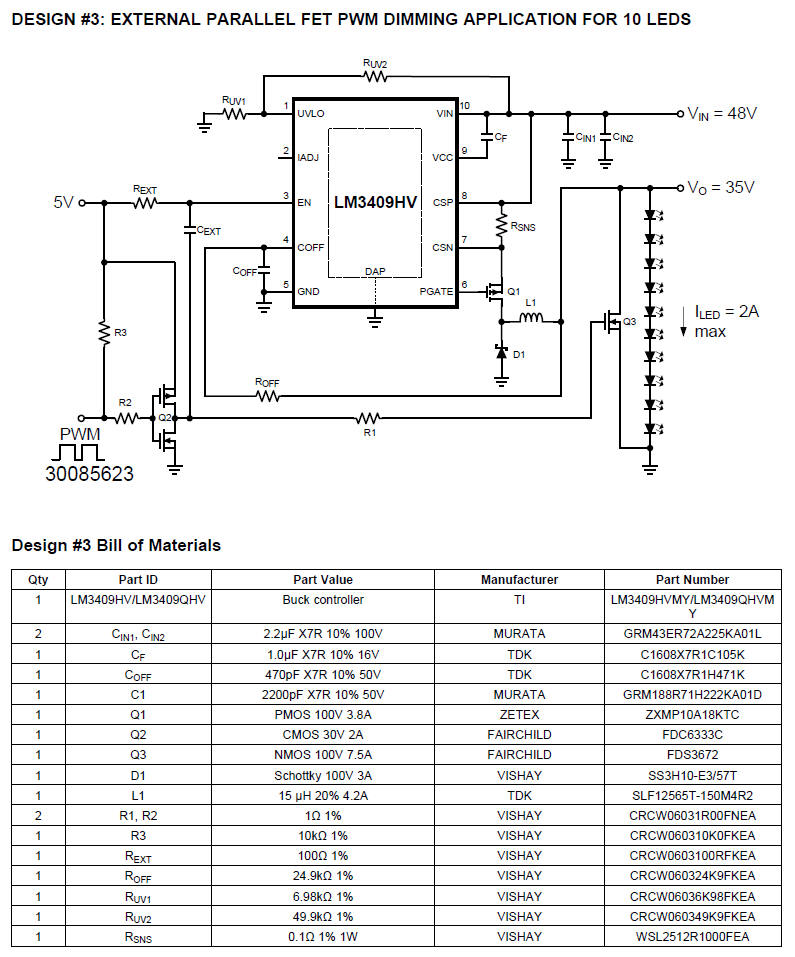 PWM DIMMING circuit diagram FOR 10 LEDS