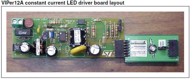 White LED driver constant current isolated offline circuit diagram pcb
