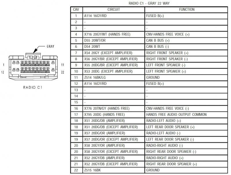 Dodge Car Radio Stereo Audio Wiring Diagram Autoradio